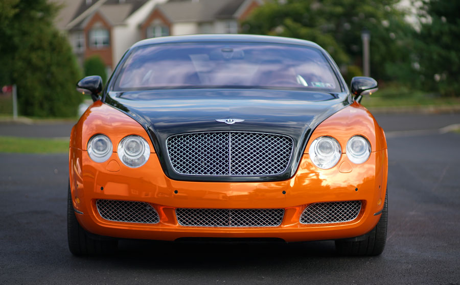 Bentley Orange Chrome Wrap